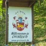 Eingangsschild Groitzsch